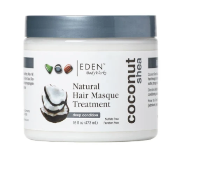 EDEN Natural hair masque treatment. Coconut and shea