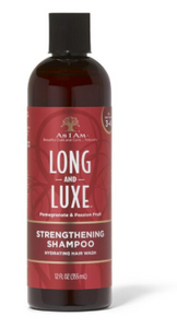AS I AM Long and luxe. Strenghtening shampoo pomegranate and passion fruit