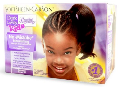 DARK AND LOVELY Beautiful Beginnings Relaxer/ Défrisant Enfant pour les cheveux Fins