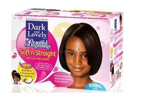 DARK AND LOVELY Beautiful Beginnings Relaxer/ Défrisant Enfant pour les cheveux NORMAL