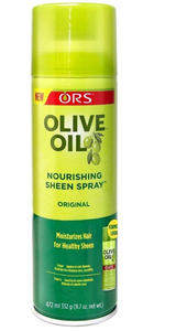 ORS Olive Oil Nourishing Sheen Spray.