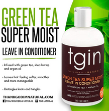 Charger l'image dans la galerie, TGIN Green Tea Super Moist Leave-In Conditioner with green Tea and Argan Oil