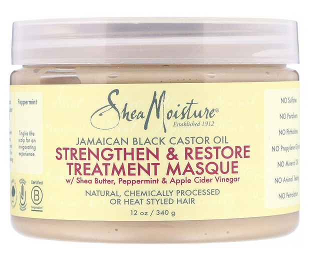 SHEA MOISTURE Jamaican Black Castor Oil, Strengthen & Restore Treatment