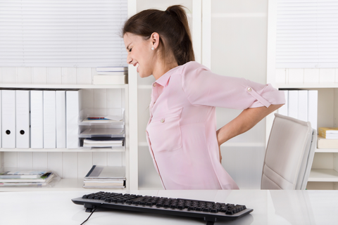 Lower back pain in the workplace.