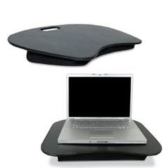 Black faux leather lap desk.