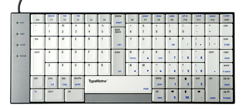 TypeMatrix Ergonomic Keyboard w/ USB Adapter, EZR2030QW