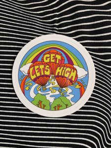 Let's Get High Sticker