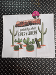 Bad Grandma Funny Gifts Prickly Shit Everywhere Tea Towel