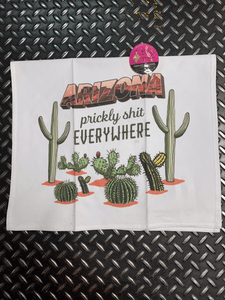 Prickly Shit Everywhere Tea Towel