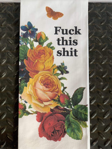 BAD GRANDMA Kitchen F*ck This Shit Tea Towel