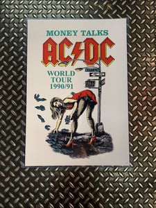 ACDC Money Talks World Tour 1990/91 Poster