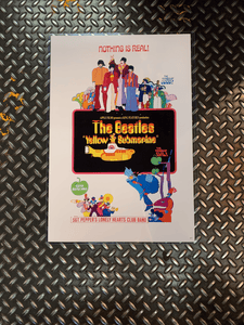 Beatles Yellow Submarine Vintage Poster