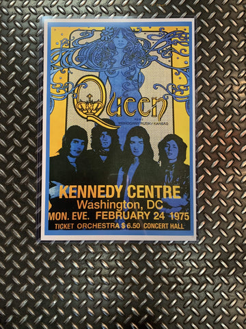 Fresh Prints Posters Queen @ Kennedy Centre 1975 Poster