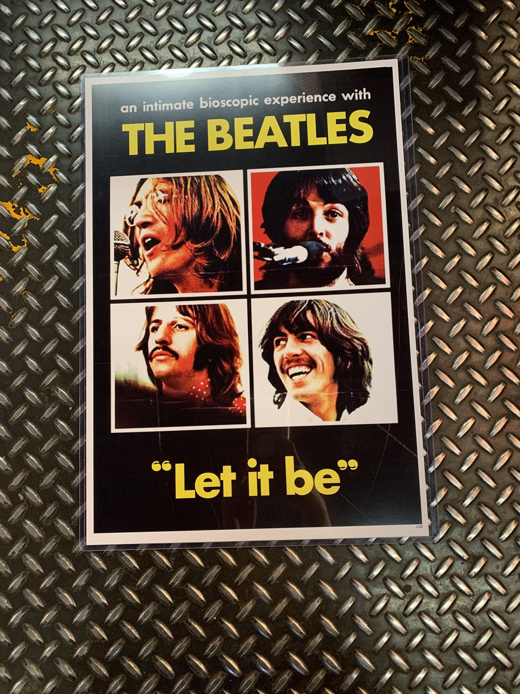 The Beatles Let It Be Vintage Poster