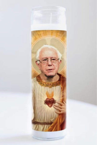 Illuminidol Funny Gifts Candle Bernie Sanders