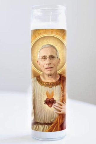 Illuminidol Funny Gifts Prayer Candle Dr Fauci