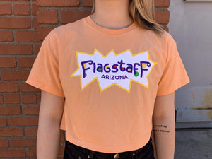 Flagstaff Colorful Orange Crop Tee