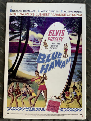 NMR DISTRIBUTION Wall Signs Elvis Blue Hawaii Tin Sign