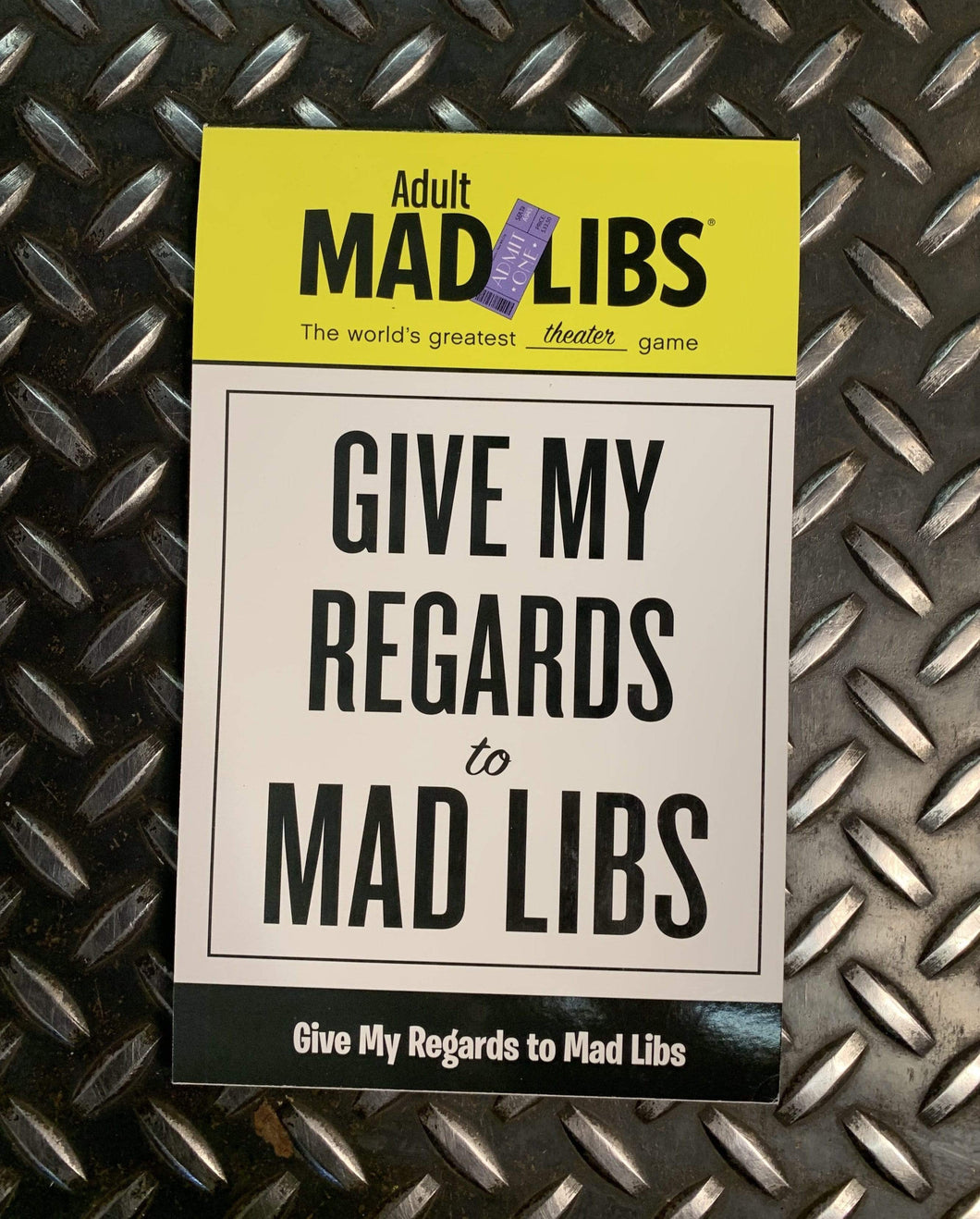 Mad Libs Give My Regards To
