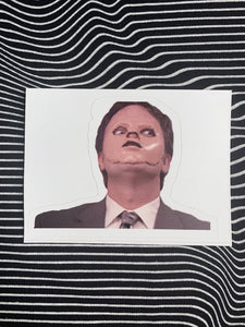 Creepy Dwight Sticker