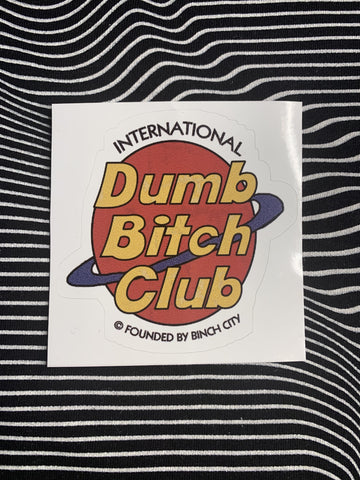 Red Bubble Stickers Genuine Bitch Club Sticker