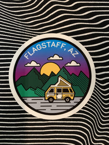 Camper Flagstaff Sticker