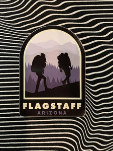 Hiking Flagstaff Sticker