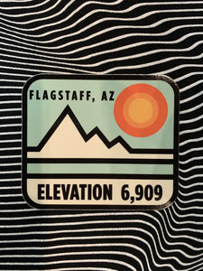 Retro Elevation Flagstaff Sticker