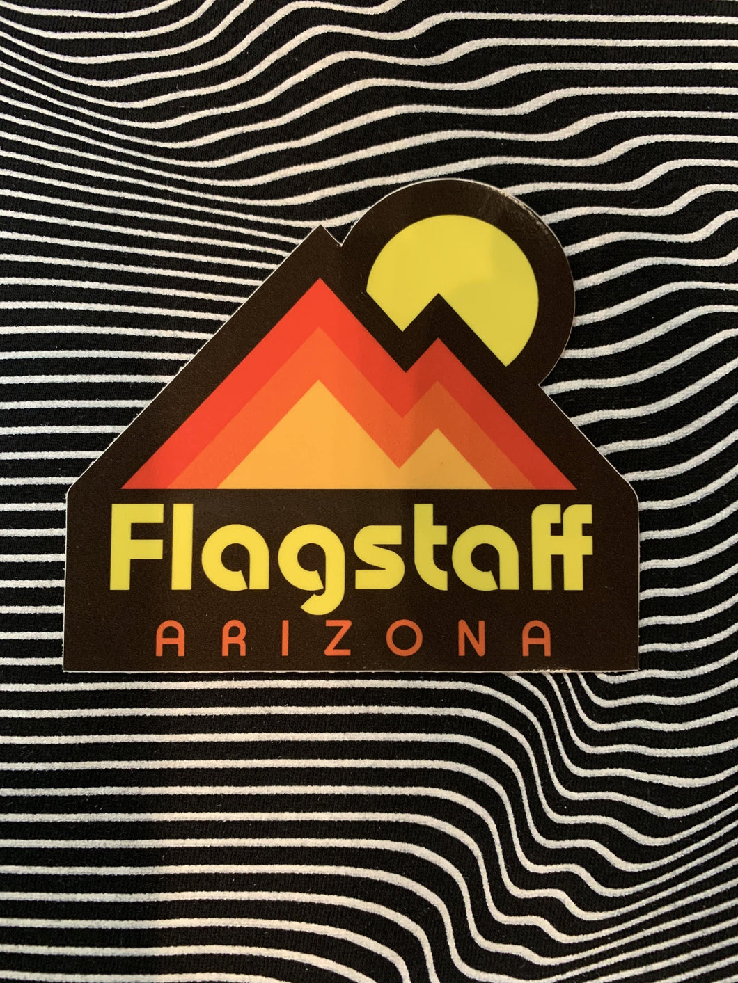 Sunset Mountain Flagstaff Sticker
