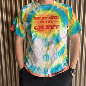 Vintage Best Dad In The Galaxy Tie-dye Tee