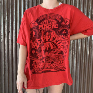 Vintage Red Led Zeppelin Tee