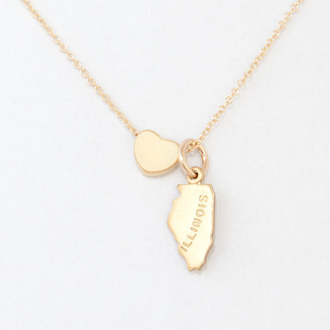 Gold State Necklace Love