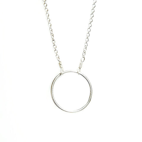 silver karma necklace