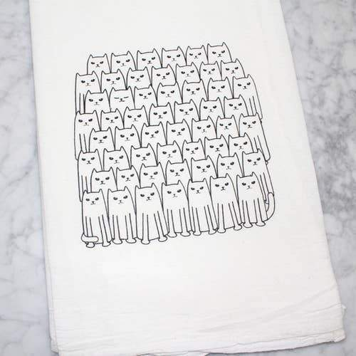 Counter Couture - Cats on Cats Flour Sack Tea Towel, , Counter Couture, adorn512
