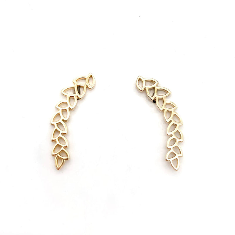 Single Leaf Ear Climber, Earrings, adorn512, adorn512