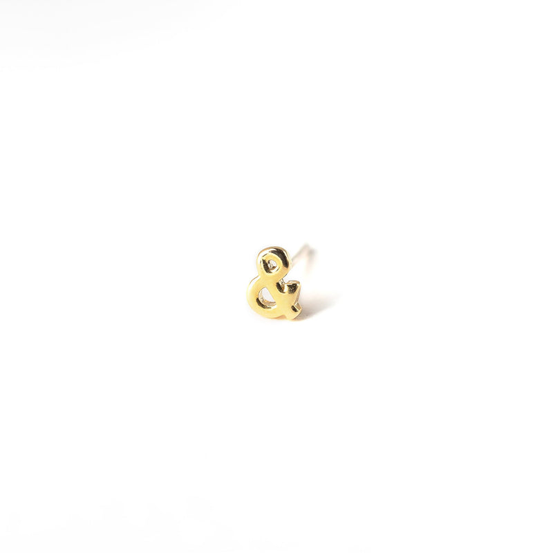 Single Tiny Letter Stud