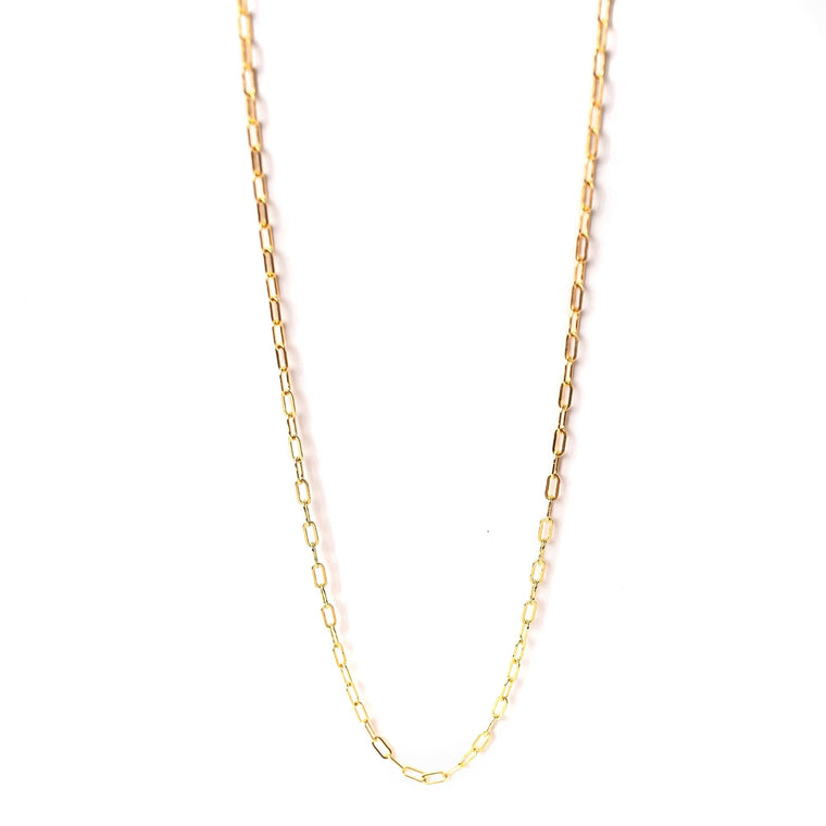 Tiny Paperclip Chain Necklace