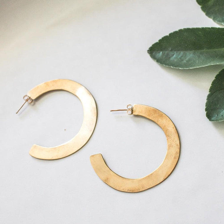 Brass Hoops | Large
