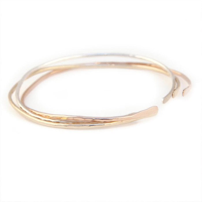 Open Hammered Bangle, Bracelets, adorn512, adorn512