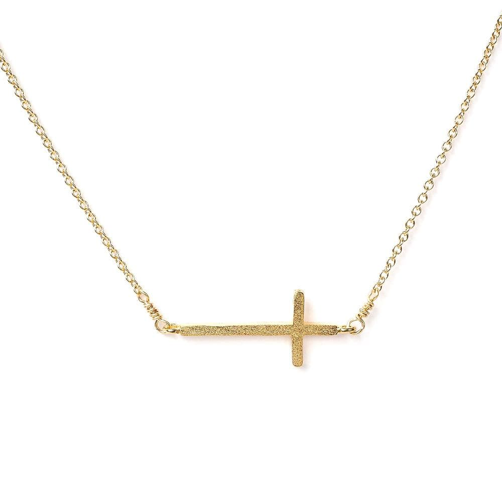 Side Cross Necklace, Necklaces, adorn512, adorn512