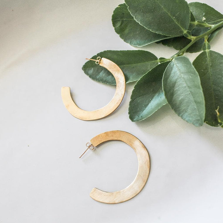 Brass Hoops | Small