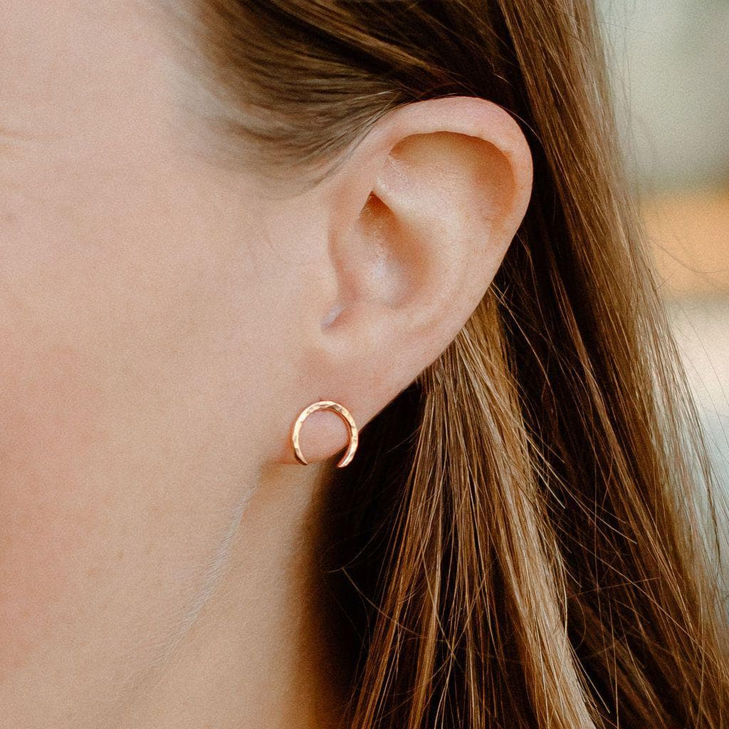 Single Mini Moon Earring