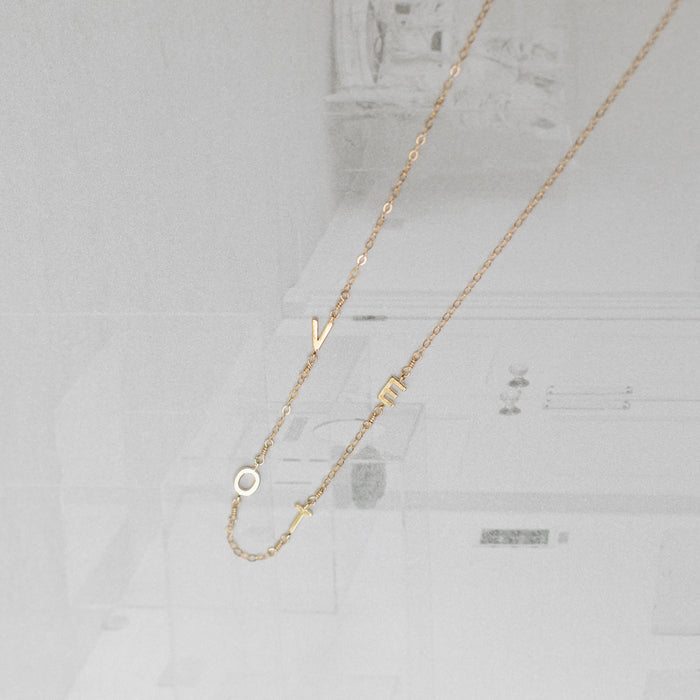 Floating VOTE Necklace