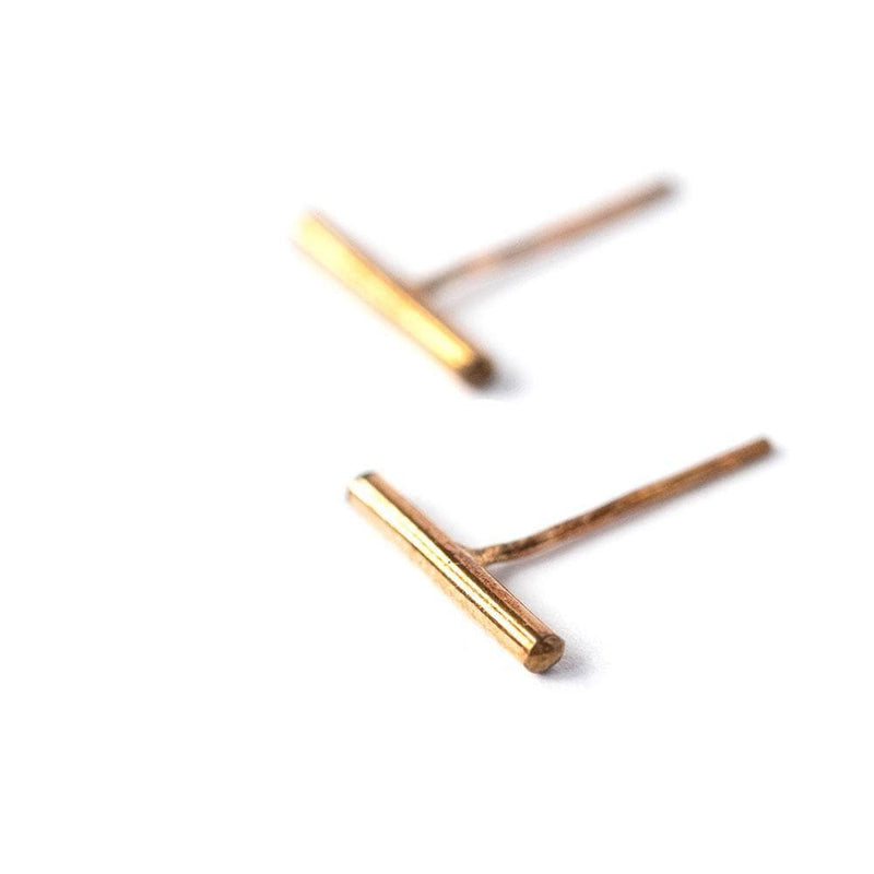 Single Bar Stud Earrings, Earrings, adorn512, adorn512
