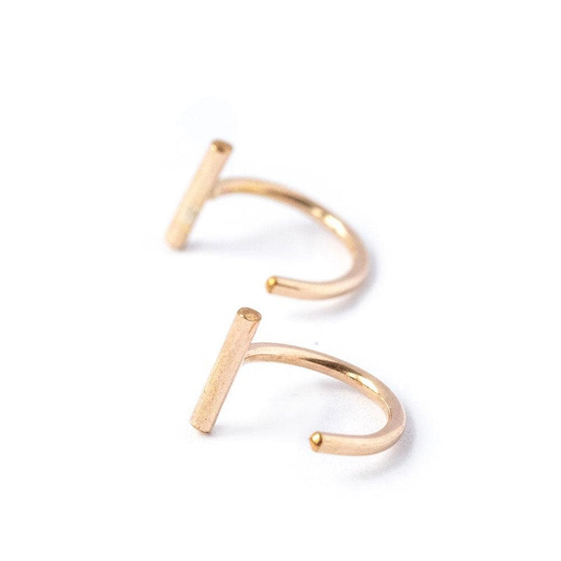 Bar Hoop Earrings, Earrings, adorn512, adorn512