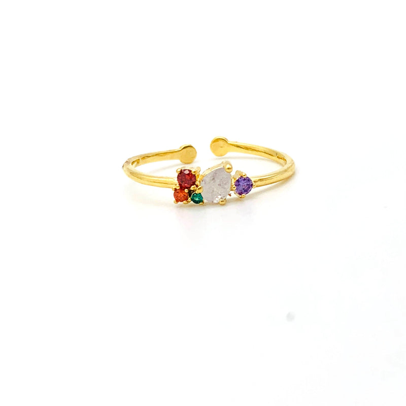 Gem Cluster Ring, Rings, Adorn512, adorn512