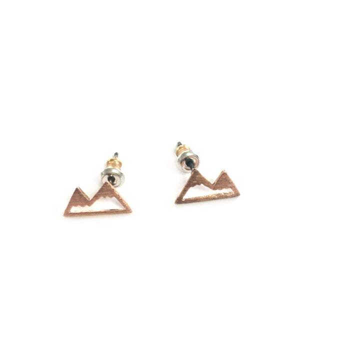 Mountain Stud Earrings, Earrings, adorn512, adorn512