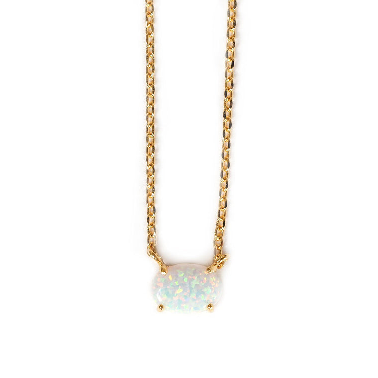 Opal Solitare Necklace