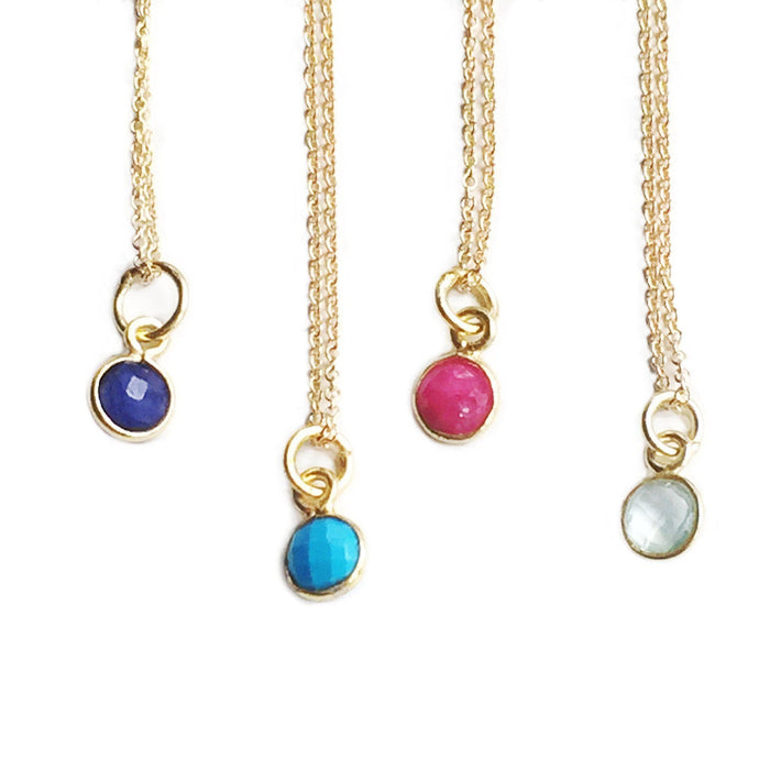 Colored Dot Necklace, Necklace, adorn512, adorn512