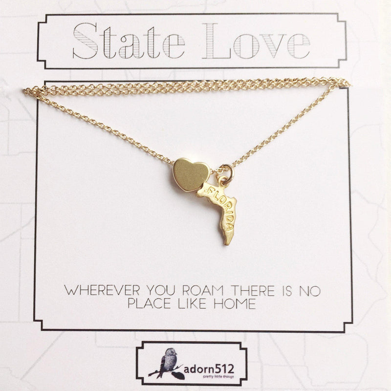 I Heart State Necklace, Necklace, adorn512, adorn512